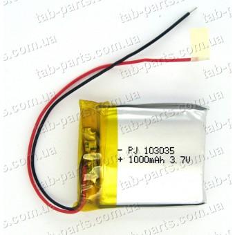Батарея (аккумулятор) для GPS навигатора, планшета 1000мАч , Li-Pol 3.7В, 35*30*10 мм