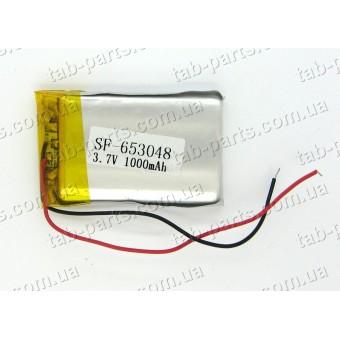 Батарея (аккумулятор) для GPS навигатора, планшета 1000мАч , Li-Pol 3.7В, 48*30*6.5 мм