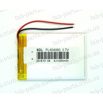 Батарея (аккумулятор) для GPS навигатора, планшета 1000мАч , Li-Pol 3.7В, 60*40*4 мм