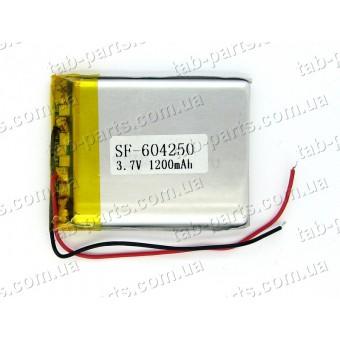Батарея (аккумулятор) для GPS навигатора, планшета 1200мАч , Li-Pol 3.7В, 50*42*6 мм
