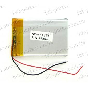Батарея (аккумулятор) для GPS навигатора, планшета 1500мАч , Li-Pol 3.7В, 61*42*4.5 мм