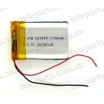 Батарея (аккумулятор) для GPS навигатора, планшета 1700мАч , Li-Pol 3.7В, 50*34*10 мм