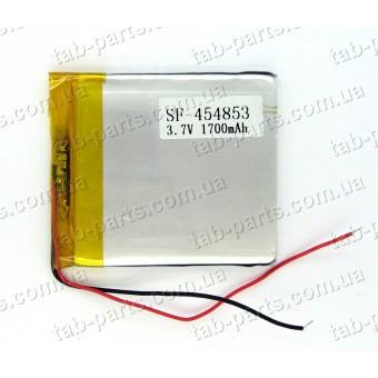 Батарея (аккумулятор) для GPS навигатора, планшета 1700мАч , Li-Pol 3.7В, 53*48*4.5 мм