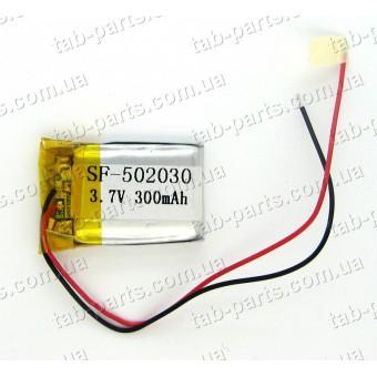 Батарея (аккумулятор) для видео регистратора, BlueTooth гарнитуры 300мАч , Li-Pol 3.7В, 30*20*5 мм