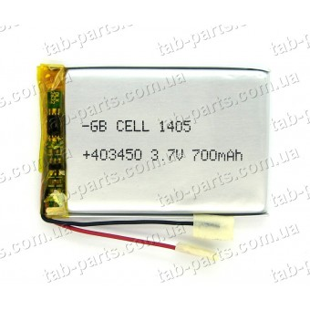 Батарея (аккумулятор) для видео регистратора, BlueTooth гарнитуры 700мАч , Li-Pol 3.7В, 42*34*5 мм