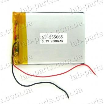 Батарея (аккумулятор) для планшета 2000мАч , Li-Pol 3.7В, 65*50*5.5 мм