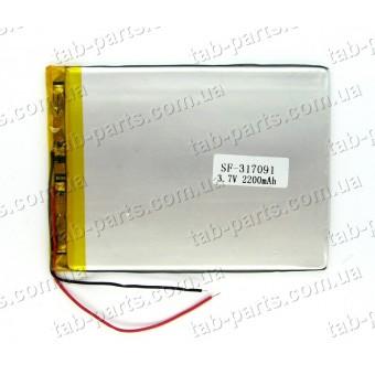Батарея (аккумулятор) для планшета 2200мАч , Li-Pol 3.7В, 91*70*3.1 мм