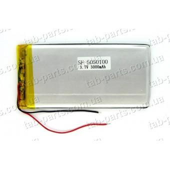 Батарея (аккумулятор) для планшета 3000мАч , Li-Pol 3.7В, 100*50*5 мм