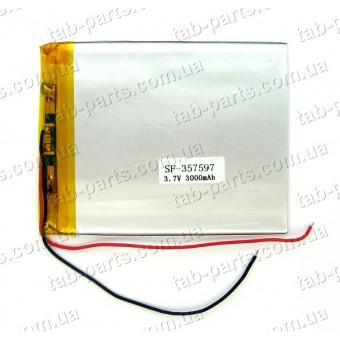 Батарея (аккумулятор) для планшета 3000мАч , Li-Pol 3.7В, 97*75*3.5 мм