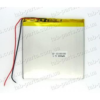 Батарея (аккумулятор) для планшета 4000мАч , Li-Pol 3.7В, 100*100*3.5 мм