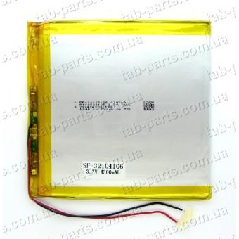 Батарея (аккумулятор) для планшета 4300мАч , Li-Pol 3.7В, 106*104*3.2 мм