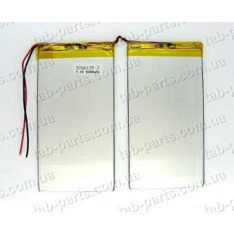 Батарея (аккумулятор) для планшета 8000мАч , Li-Pol 7.4В, 125*66*3.7 мм, 2 банки