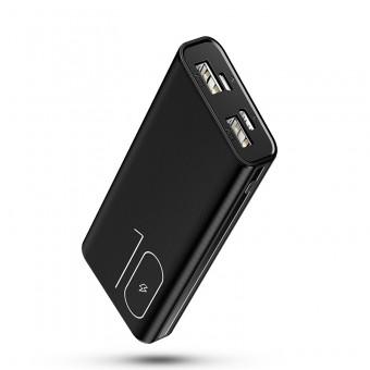УМБ Power Bank Usams 10000 mAh mini 2xUSB, входы Micro USB/USB Type-C черный (US-CD93-BL)