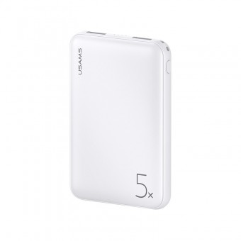 УМБ Power Bank Usams 5000 mAh mini 2xUSB, вход Micro USB белый (US-CD123-WT)