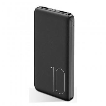 УМБ Power Bank Usams 10000 mAh mini 2xUSB, вход Micro USB черный (US-CD63-BL)