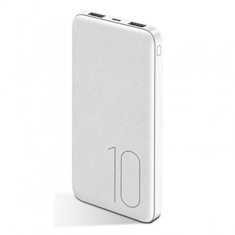 УМБ Power Bank Usams 10000 mAh mini 2xUSB, вход Micro USB белый (US-CD63-WT)