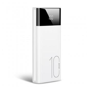 УМБ Power Bank Usams 10000 mAh 2xUSB, входы Lightning/Micro USB/USB Type-C белый (US-CD97-WT)
