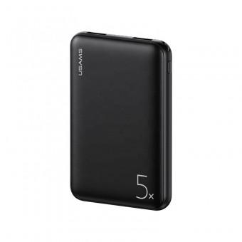 УМБ Power Bank Usams 5000 mAh mini 2xUSB, вход Micro USB черный (US-CD123-BL)