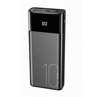 УМБ Power Bank Usams 10000 mAh 2xUSB, входы Lightning/Micro USB/USB Type-C черный (US-CD97-BL)
