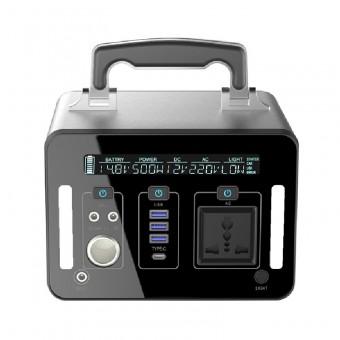 УМБ Портативное зарядное устройство 500Wh (3.7v 135000 mAH) с розеткой 220V, 4xUSB, 3x12v DC (NPS-SR500)