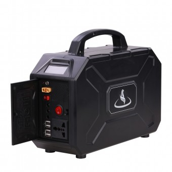 УМБ Портативное зарядное устройство 600Wh (3.7v 150000 mAH) с розеткой 220В, 4xUSB, 3x12v DC черный (NPS003Li50-BL)