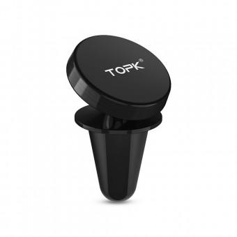 Автодержатель для телефона магнитный TOPK 360 черный (TKD03-BL)