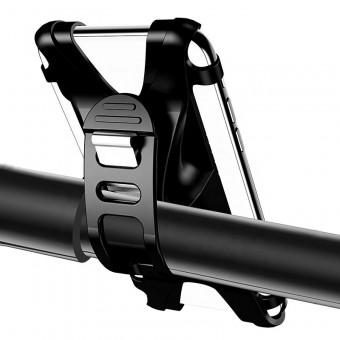 Вело крепление, велодержатель для телефона (смартфона) на руль велосипеда Usams силиконовый черный (US-ZJ053-BL)