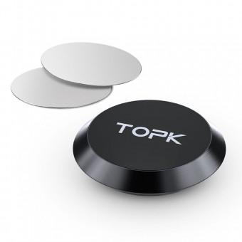 Автодержатель для телефона магнитный TOPK черный (TKD21-BL)