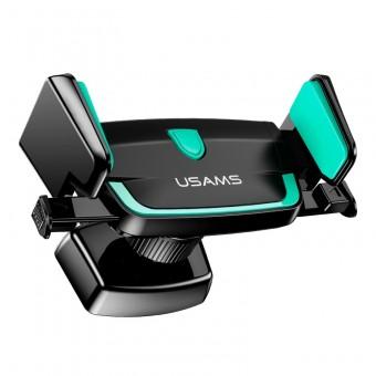 Автодержатель для телефона универсальный Usams антискользящий черно зеленый (US-ZJ030-BG)
