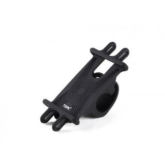 Вело крепление, велодержатель для телефона (смартфона) на руль велосипеда TOPK велосипедный силиконовый черный (TKH03-BL)