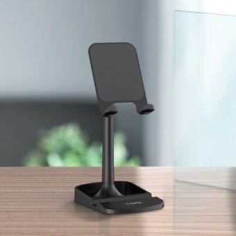 Подставка держатель для телефона (смартфона) планшета Topk черный (TKD23-BL)