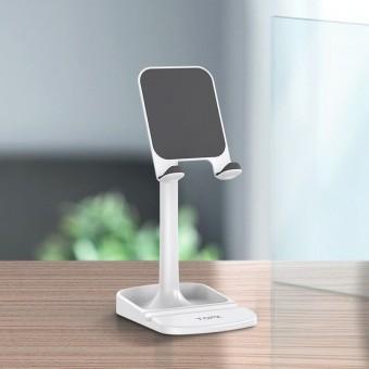 Подставка держатель для телефона (смартфона) планшета Topk белый (TKD23-WT)