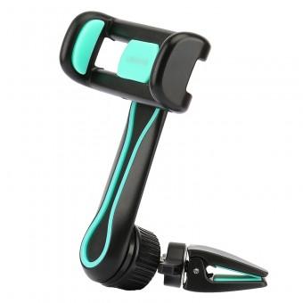 Автодержатель для телефона универсальный Usams FX Series антискользящий черно зеленый (US-ZJ012-BG)