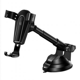 Автодержатель для телефона универсальный Usams 360° 2в1 трансформер черный (US-ZJ056-BL)