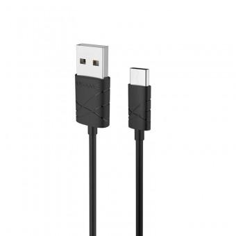 Кабель синхронизации Usams U-Gee Series USB Type-C 1m 2.1A черный (US-SJ042-BL)