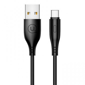 Кабель синхронизации Usams USB Type-C 1m 2A черный (US-SJ267-BL)