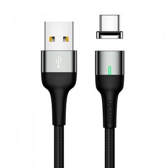 Магнитный кабель синхронизации Usams USB Type-C 1m 3A серый (US-SJ327-GR)