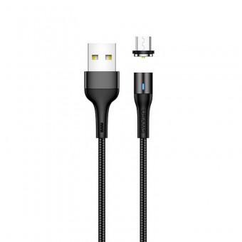 Магнитный кабель для зарядки Usams microUSB 2m 2.4A 360° черный (US-SJ338-BL)