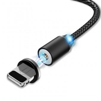 Магнитный кабель для зарядки Usams iPhone 1m 2.1A 360° черный (US-SJ292-BL)