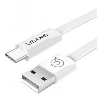 Кабель синхронизации Usams USB Type-C 1.2m 2A белый (US-SJ200-WT)