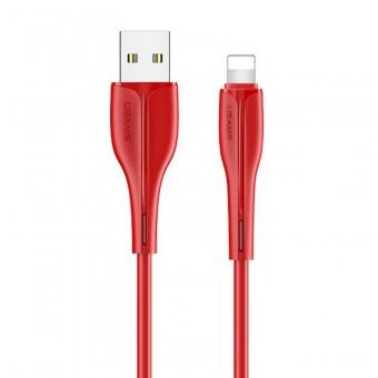 Кабель синхронизации Usams IPhone 1m 2A красный (US-SJ371-RD)