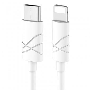 Кабель синхронизации Usams U-Gee Series IPhone 1m 2.1A белый (US-SJ038-WT)