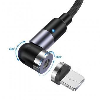 Магнитный кабель для зарядки Topk iPhone 1m 2.4A 540° черный (TK59i-VER2-BL)