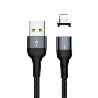 Магнитный кабель синхронизации Usams iPhone 1m 2.1A черный (US-SJ326-BL)