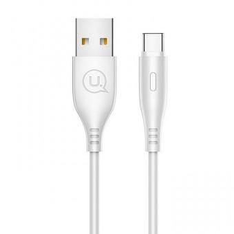Кабель синхронизации Usams USB Type-C 1m 2A белый (US-SJ267-WT)