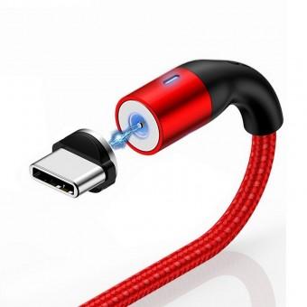 Магнитный кабель для зарядки Usams USB Type-C 1m 2.4A 360° красный (US-SJ334-RD)