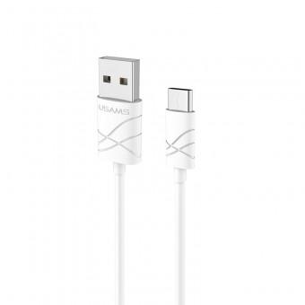 Кабель синхронизации Usams U-Gee Series USB Type-C 1m 2.1A белый (US-SJ042-WT)