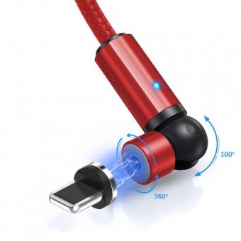 Магнитный кабель для зарядки Topk iPhone 1m 2.4A 540° красный (TK68i-VER2-RD)
