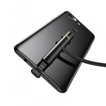 Кабель синхронизации Usams USB Type-C 1.2m 2A игровой на присосках черный (US-SJ381-BL)