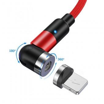 Магнитный кабель для зарядки Topk iPhone 1m 2.4A 540° красный (TK59i-VER2-RD)
